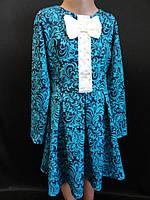 Трикотажные детские платья с красивым узором, фото 1