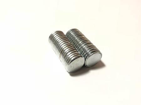 Неодимовые магниты. Закругленные края. 15х2мм