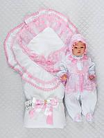 """Набор для новорожденного """"Мария"""" розовый"""