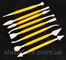 Набор инструментов для лепки (8 шт) - для работы с глиной, мастикой, для керамической флористики