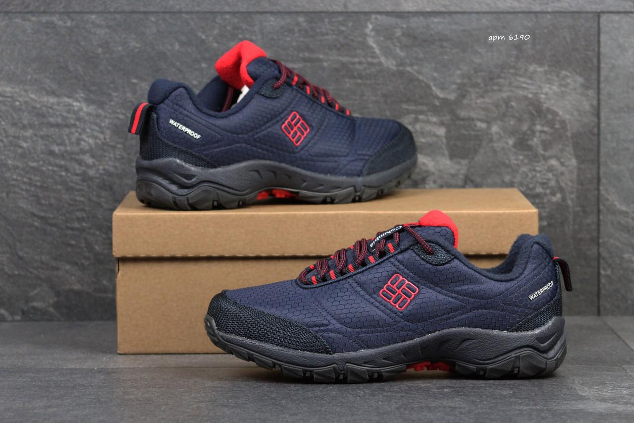 Мужские кроссовки Columbia,темно синие с красным