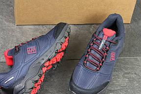 Мужские кроссовки Columbia,темно синие с красным, фото 2