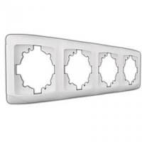 Рамка 4-места горизонтальная VI-KO CARMEN (белый)  - распродажа