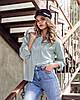 Рубашка стильна модная классического кроя с разрезами по боковым швам разные цвета Rf273