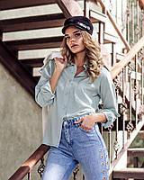 Рубашка стильна модная классического кроя с разрезами по боковым швам разные цвета Rf273, фото 1