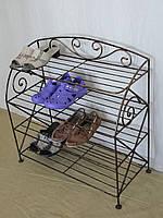 Этажерка для обуви с коваными элементами (шир.67см, 4 полки), фото 1