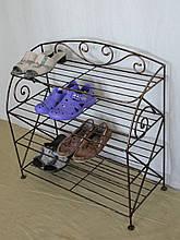 Этажерка для обуви с коваными элементами (шир.67см, 4 полки)
