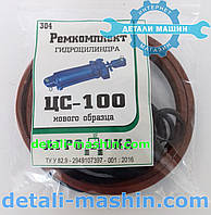 Ремкомплект гидроцилиндра ЦС-100 (ГЦ-100) 100*200 нового образца р.к.304