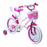 Велосипед двухколесный 16 1706-16 розовый с корзинкой