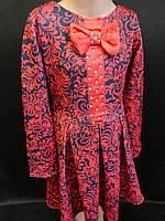 Детские платья из трикотажа с узором., фото 1