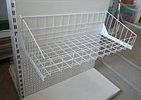 Кошик сітчастий для металевих стелажів шириною 950мм глибиною 400мм, фото 1