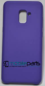 Силиконовый Чехол для Samsung Galaxy A7 2018 Silicone Case (Фиолетовый)