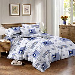 Двуспальный комплект постельного белья 180*220 из ранфорса Геометрия