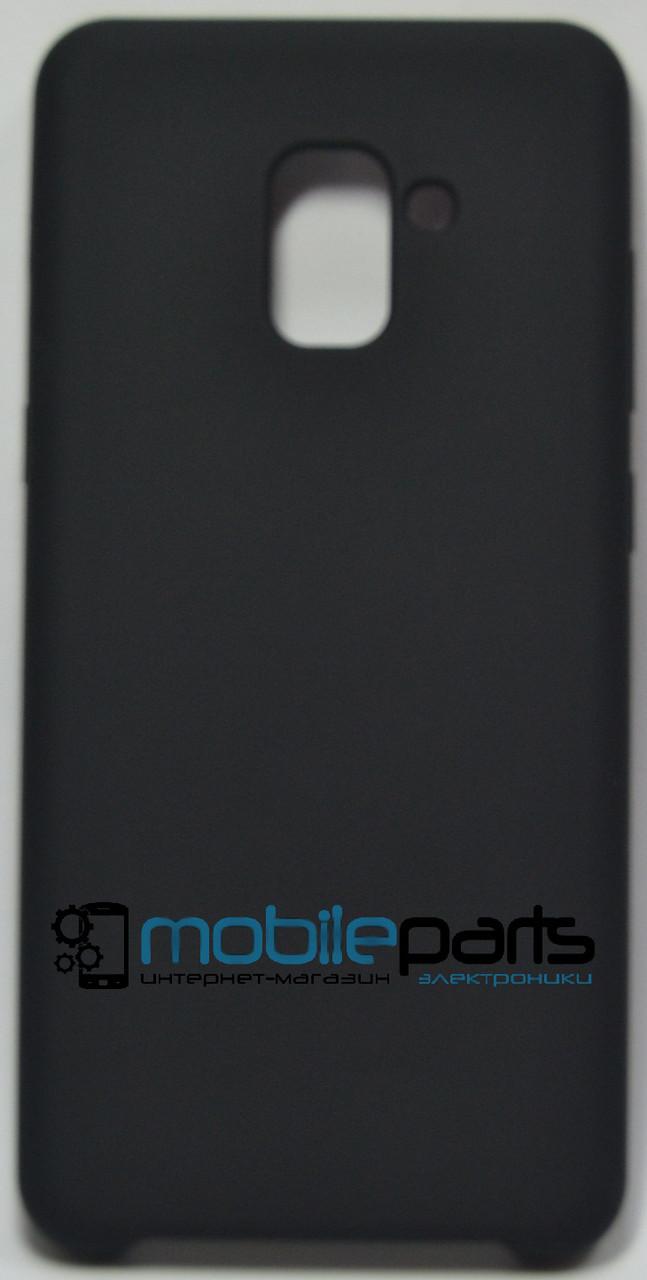 Силиконовый Чехол для Samsung Galaxy A7 2018 Silicone Case (Черный)