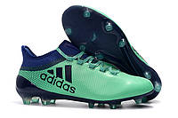 Футбольные бутсы adidas X 17.1 FG Aero Green/Unity Ink/Hi-Res Green, фото 1