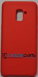 Силиконовый Чехол для Samsung Galaxy A7 2018 Silicone Case (Красный)