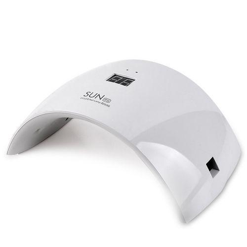 Лампа для сушіння гель лаків 24W LED UV SUN White 9S