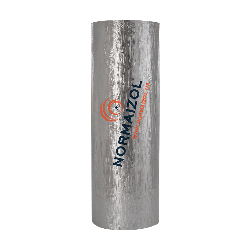 Теплоізоляційний матеріал для промислового обладнання АЛЮФОМ ® R-АЛЮХОЛСТ - 6 мм