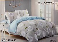 Сатиновое постельное белье полуторка ELWAY 5060