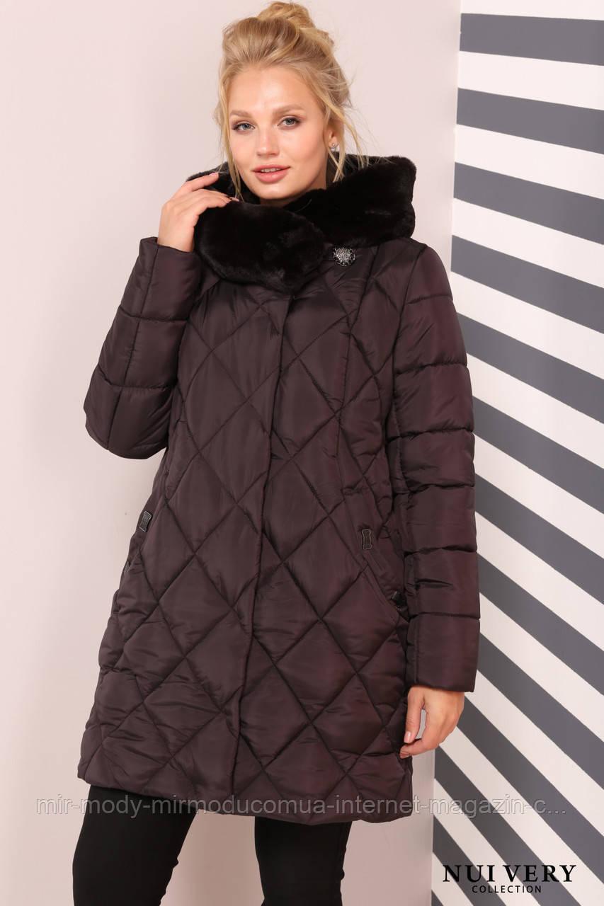 Куртка Валенсия -шоколад №499 с 48 по 64  размер(вр)