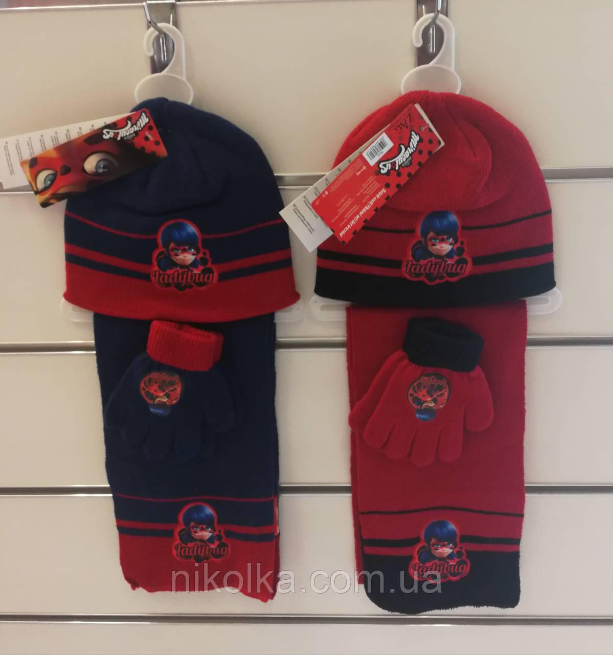 Шапки+перчатки+шарф для девочек оптом, Disney, 3-8 лет, арт. 780-621