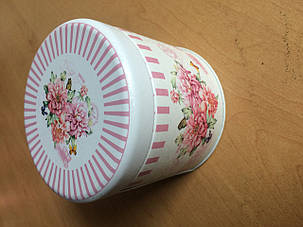 Жестяная банка для кофе и чая Сладкие мечты Пионы, 8х8см, 100г ( банка для сыпучих ), фото 2