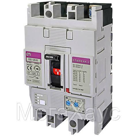 Промышленный автоматический выключатель ETI ETIBREAK EB2 125/3S 125А 3р (36кА), фото 2
