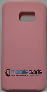 Силиконовый Чехол для Samsung Galaxy S7 Silicone Case (Розовый)