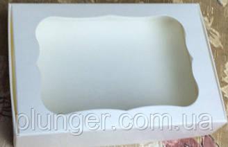 Коробка для печива, пряників, з вікном, 10 см х 15 см х 3 см, мілований картон