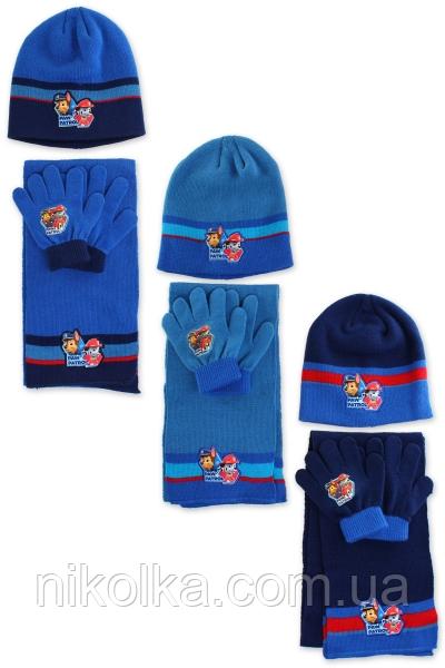 Шапки+перчатки+шарф для мальчиков оптом, Disney, 3-8 лет.,арт.780-630