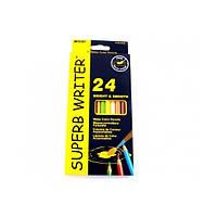 Акварельные карандаши 24 шт. MARCO Superb writer 4120-24