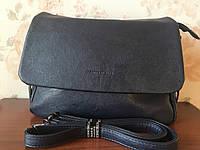 Темно-синяя женская наплечная сумка классическая на каждый день экокожа Одесса, фото 1