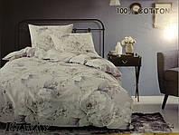 Сатиновое постельное белье полуторка ELWAY 5064