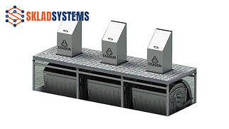 Система на 3 мусорных контейнера