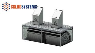 Система на 2 мусорных контейнера