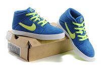 Женские кроссовки Nike Suketo High Suede blue