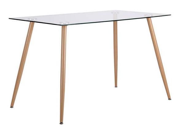 Стол обеденный Умберто DT-1633 бук/стекло прозрачное, фото 2