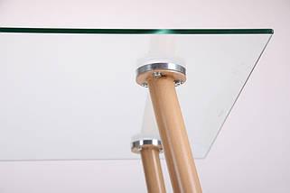 Стол обеденный Умберто DT-1633 бук/стекло прозрачное, фото 3