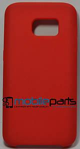 Силиконовый Чехол для Samsung Galaxy S7 Silicone Case (Красный)