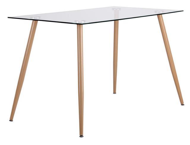 Стол обеденный Умберто DT-1633 бук/стекло прозрачное (фото 2)