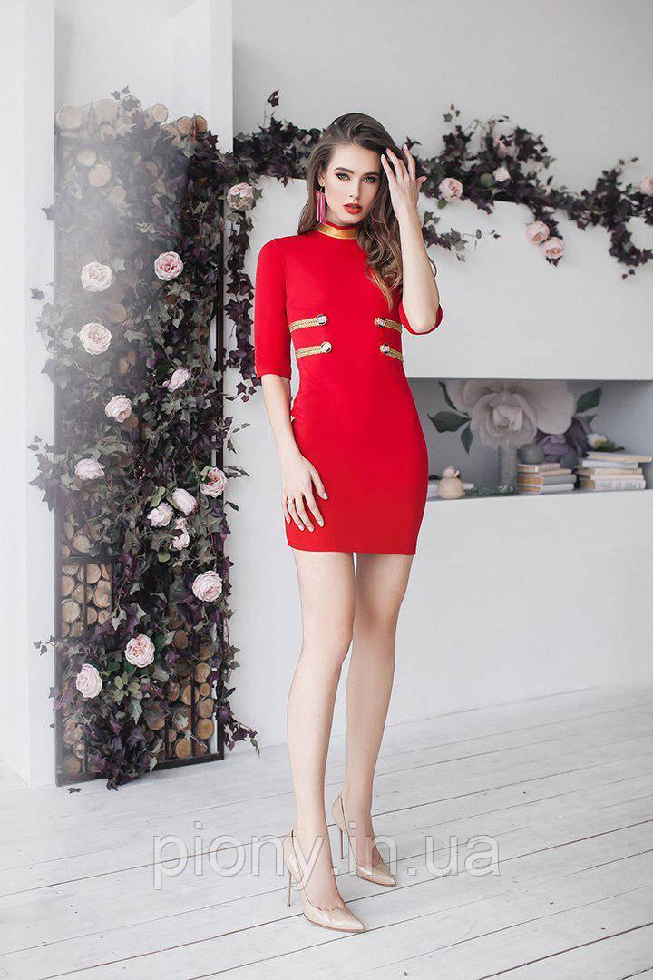 Женское Платье-мини Гусар