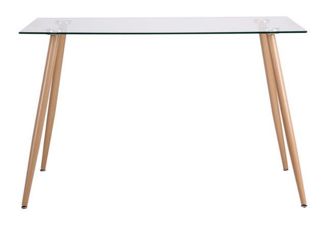 Стол обеденный Умберто DT-1633 бук/стекло прозрачное (фото 4)