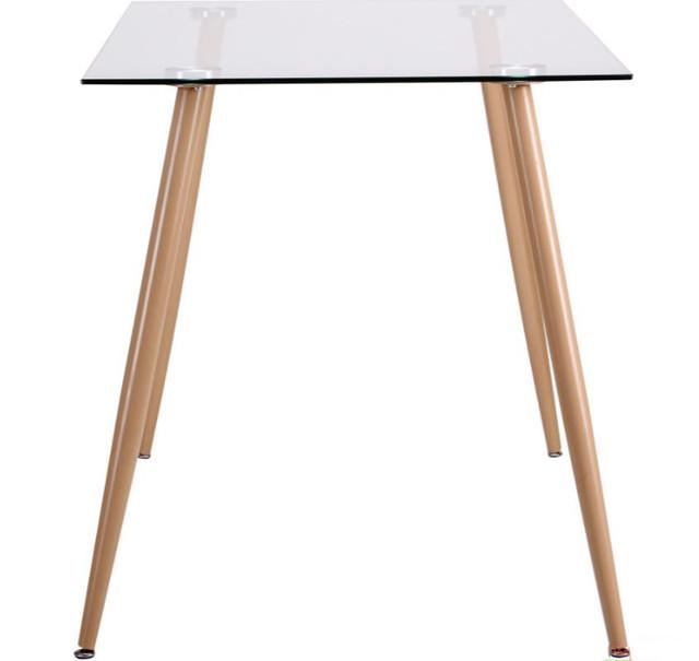 Стол обеденный Умберто DT-1633 бук/стекло прозрачное (фото 5)