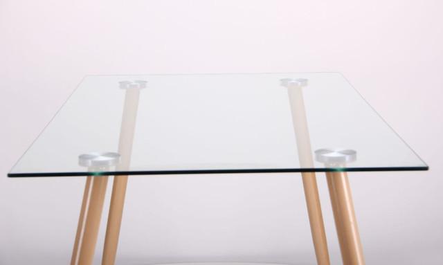 Стол обеденный Умберто DT-1633 бук/стекло прозрачное (фото 6)