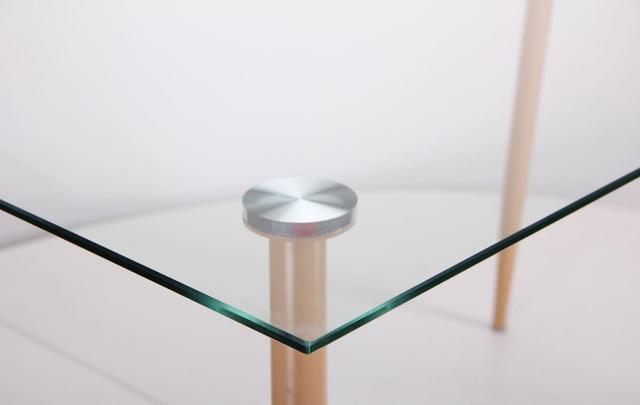 Стол обеденный Умберто DT-1633 бук/стекло прозрачное (фото 8)