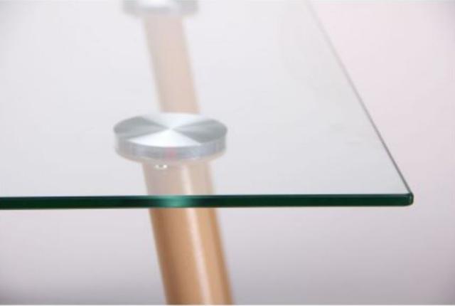 Стол обеденный Умберто DT-1633 бук/стекло прозрачное (фото 8.1)