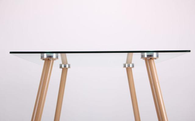 Стол обеденный Умберто DT-1633 бук/стекло прозрачное (фото 9)