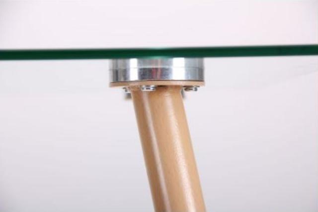 Стол обеденный Умберто DT-1633 бук/стекло прозрачное (фото 9.3)