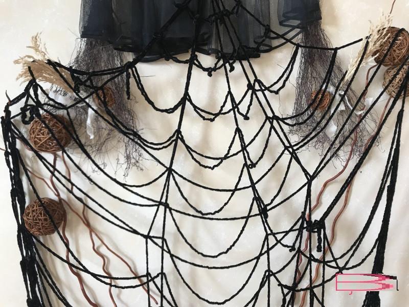 Паутинка декоративная черная на 12 кругов 5 метров
