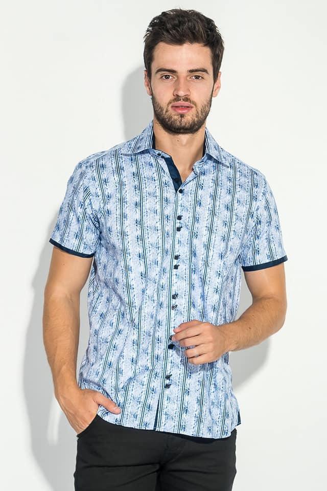 Мужская рубашка с коротким рукавом Meadrine 002
